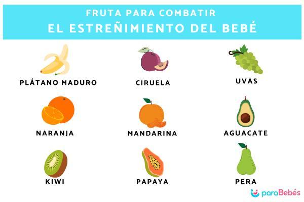 Papillas de frutas para bebés estreñidos, ¿funcionan? - La fruta para combatir el estreñimiento del bebé