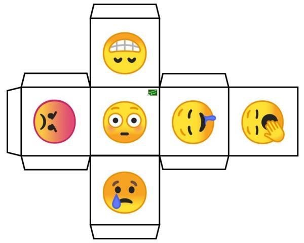 Manualidades para trabajar las emociones - El dado de las emociones