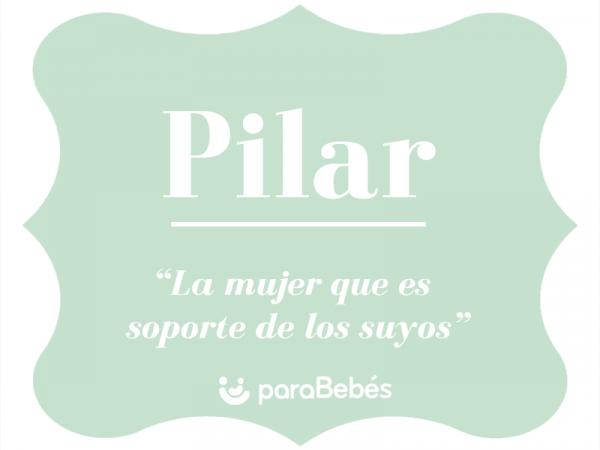 Significado del nombre Pilar