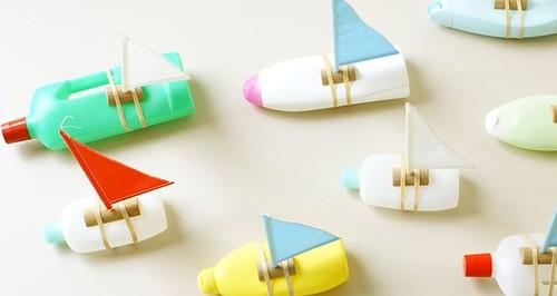 Juegos con material reciclado para niños - Barcos