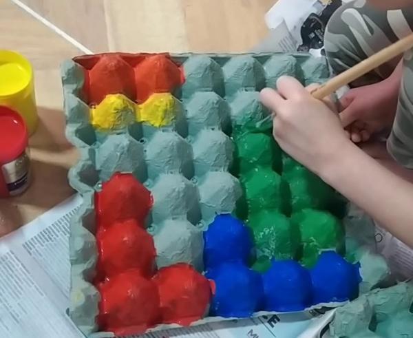 Juegos con material reciclado para niños - Tetris