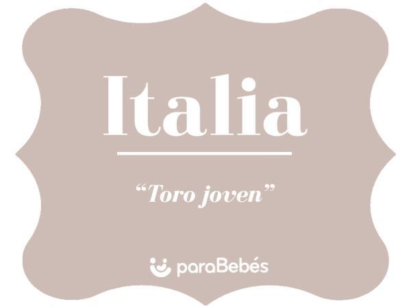 Significado del nombre Italia