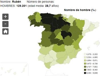 Significado del nombre Rubén - Popularidad del nombre Rubén