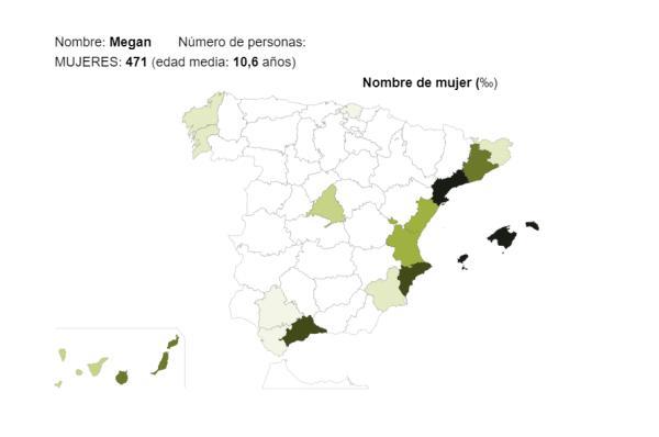 Significado del nombre Megan - Popularidad del nombre Megan