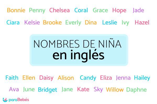Nombres de niña en inglés