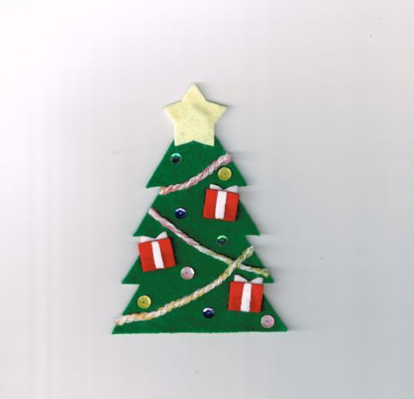 Manualidades de Navidad para niños fáciles - Árbol de Navidad de fieltro