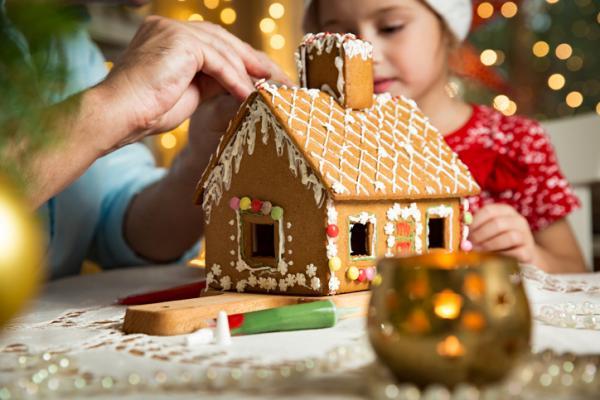Manualidades de Navidad para niños fáciles - Casa de jengibre