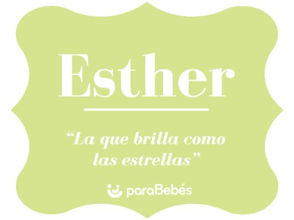 Significado del nombre Esther