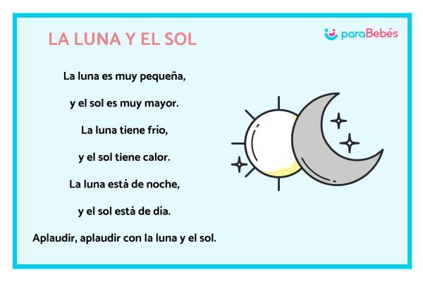 Poesías para niños - La luna y es sol