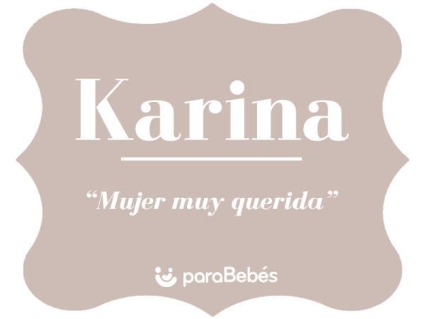 Significado del nombre Karina