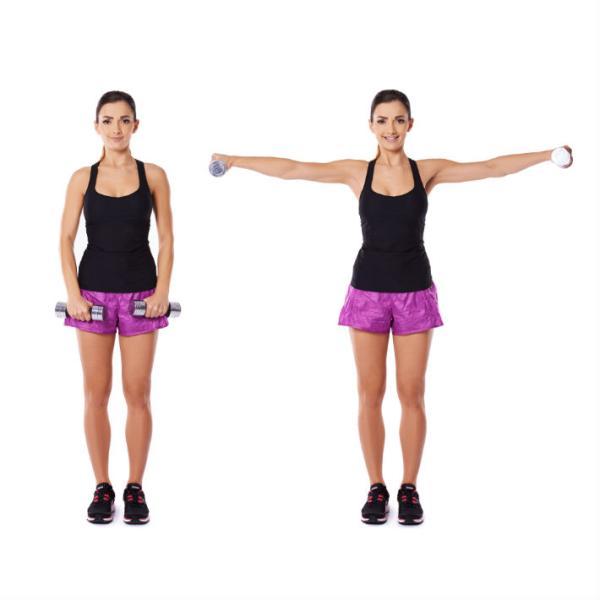 Ejercicios hipopresivos postparto - Eleva los brazos a la vez que tomas aire
