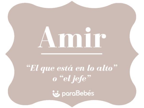 Significado del nombre Amir