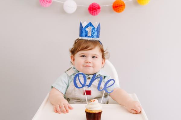 Ideas para el primer cumpleaños de un bebé - Corona