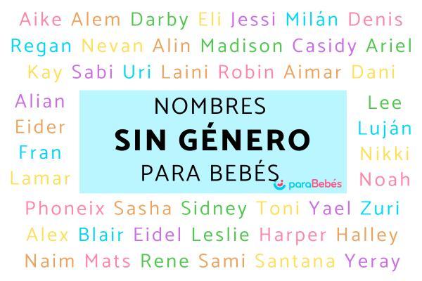 Nombres sin género para bebés