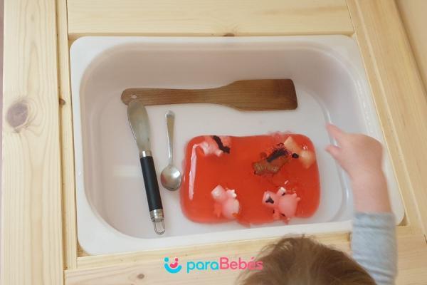 Juegos para bebés de 1 año - Gelatina