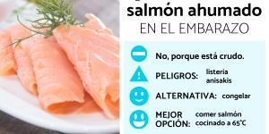 ¿Se puede comer salmón ahumado en el embarazo?