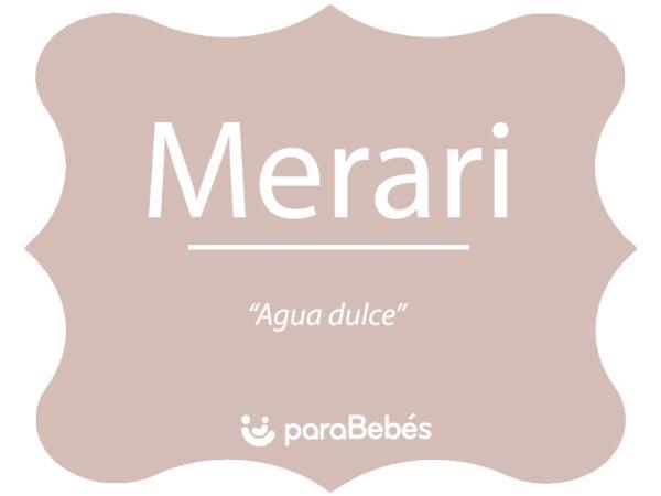 Significado del nombre Merari