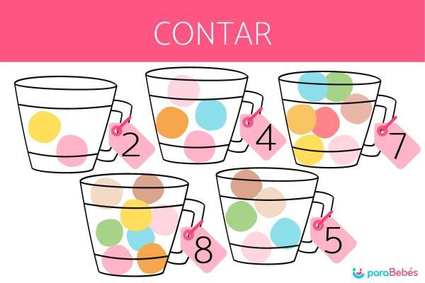 Juegos para aprender los números - Contar con bolas de algodón