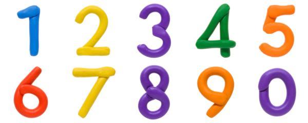 Juegos para aprender los números - Hacer números con plastilina