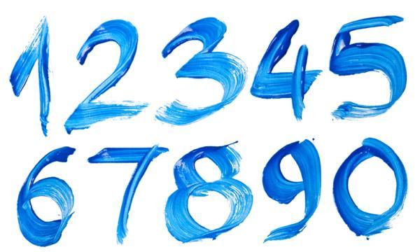 Juegos para aprender los números -  Pintar los números con pintura de dedos