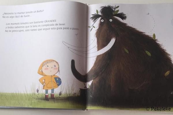 Libros para niños de 4 a 5 años - Cómo lavar a un mamut lanudo. Editorial Miau