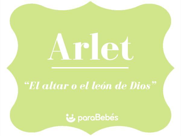 Significado del nombre Arlet