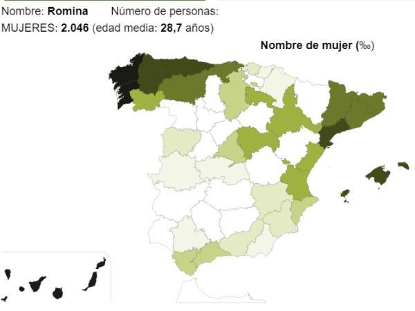 Significado del nombre Romina - Popularidad del nombre Romina