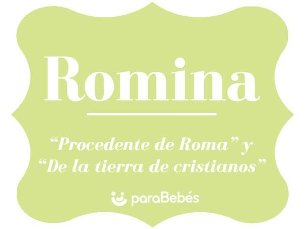 Significado del nombre Romina