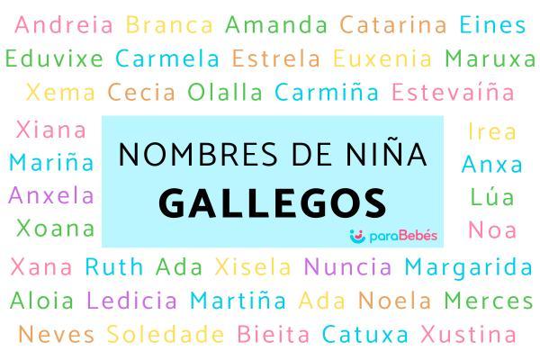 Nombres de niña gallegos