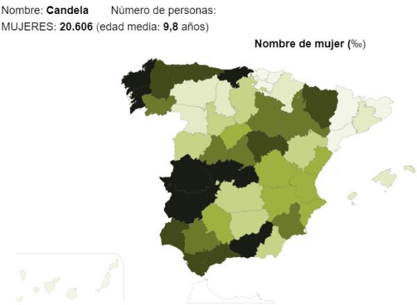 Significado del nombre Candela - Popularidad del nombre Candela