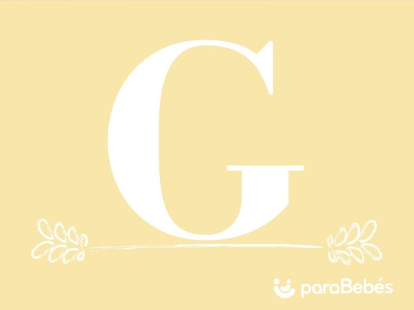 Nombres de niño con la letra G