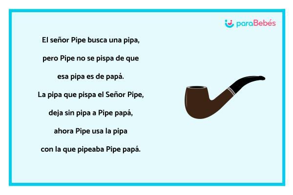 Trabalenguas infantiles - Señor Pipe