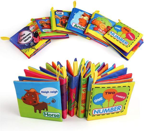 Cuentos para bebés de 3 meses - Colección cuentos de tela Baby Books Box de Belle Style