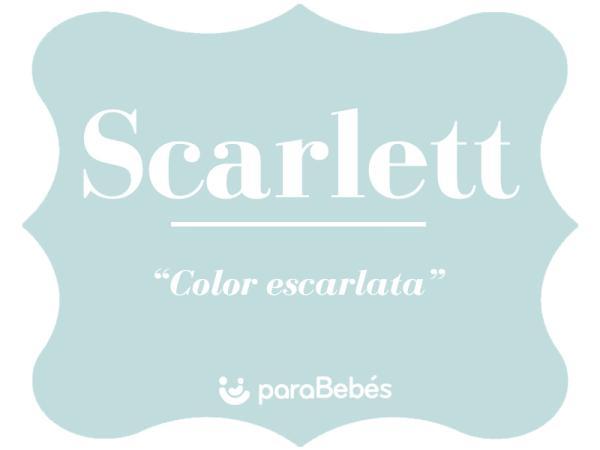 Significado del nombre Scarlett
