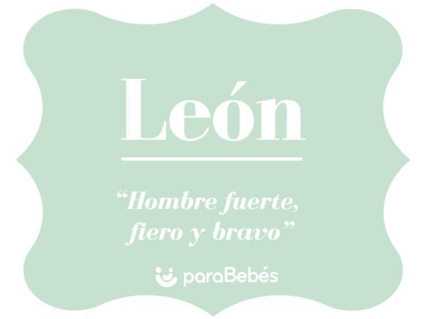 Significado del nombre Leon