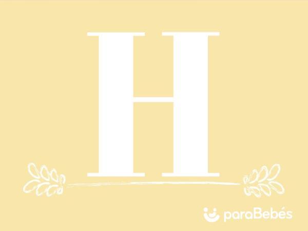 Nombres de niño con la letra H