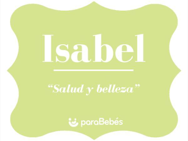 Significado del nombre Isabel