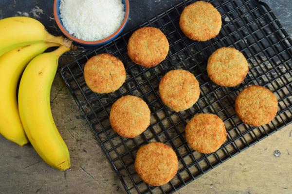 Recetas para bebés de 9 meses - Galletas de plátano y coco