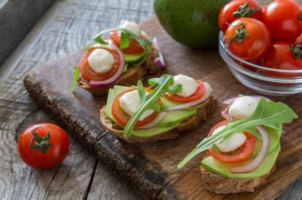 Comidas saludables para niños - Tostadas