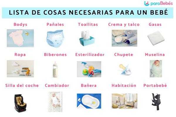 Lista de cosas necesarias para un bebé