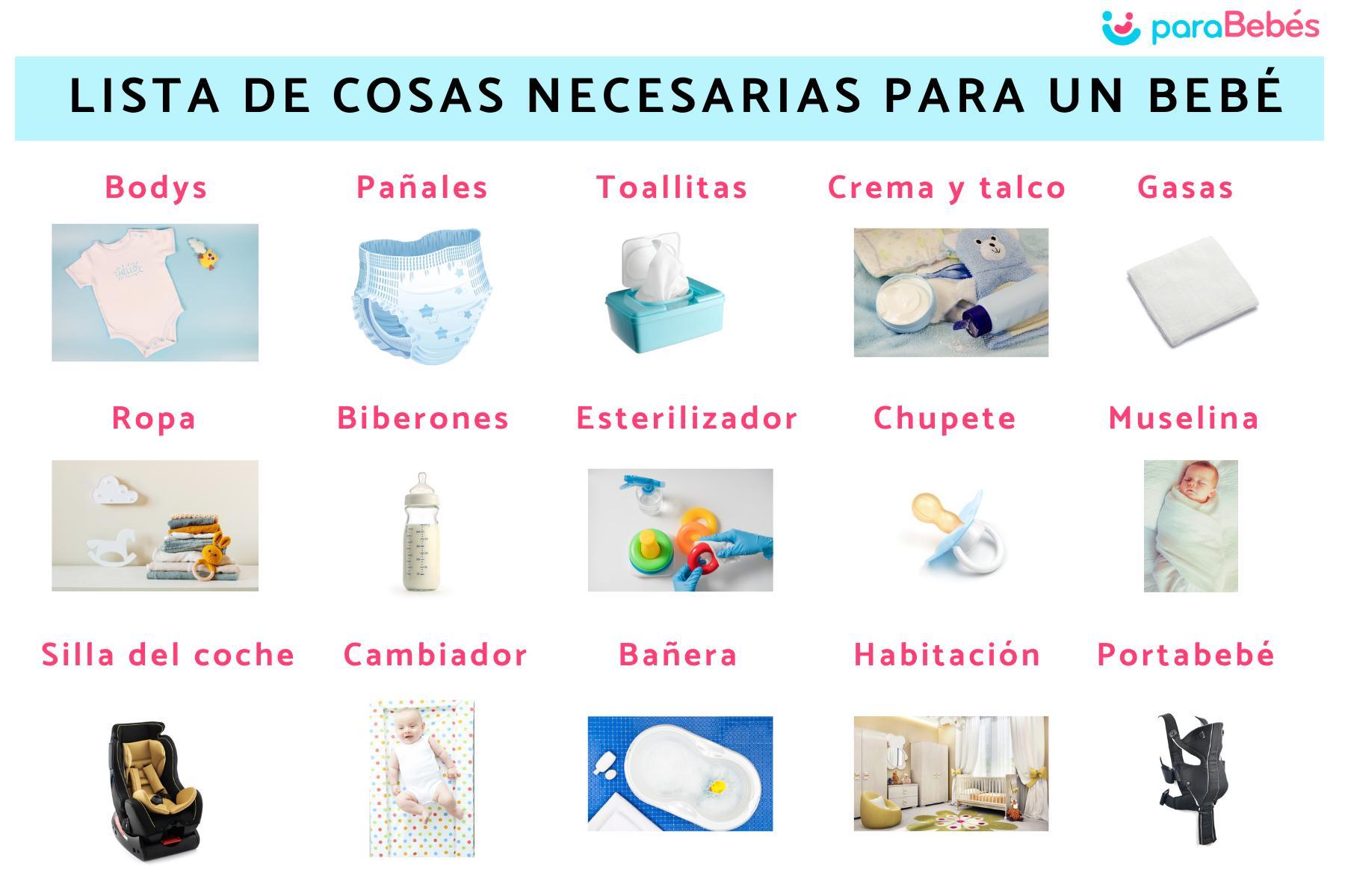 Lista De Cosas Necesarias Para Un Bebé 15 Imprescindibles