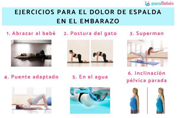 Cómo aliviar el dolor de espalda en el embarazo - Ejercicios para el dolor de espalda en el embarazo