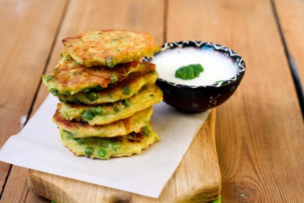 Recetas de Baby Led Weaning - Tortitas de guisantes y queso