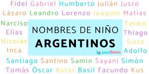 Nombres de niños argentinos y su significado
