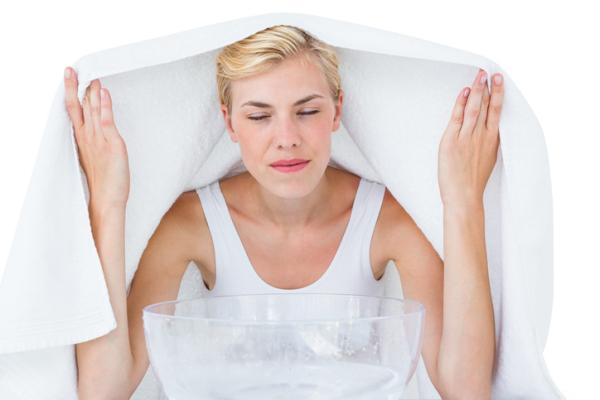 Remedios caseros para el dolor de garganta en el embarazo - Inhalaciones de vapor