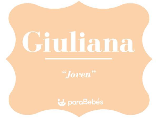Significado del nombre Giuliana