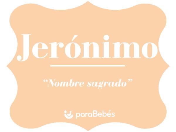 Significado del nombre Jerónimo