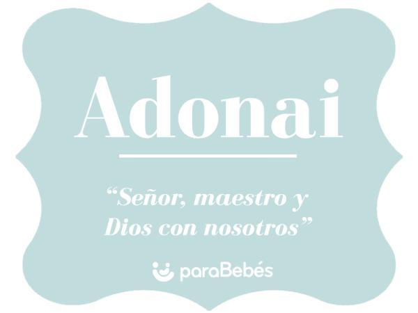Significado del nombre Adonai