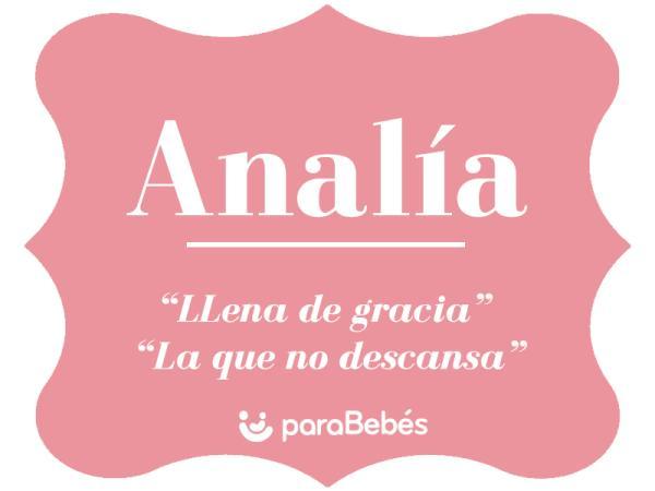 Significado del nombre Analía