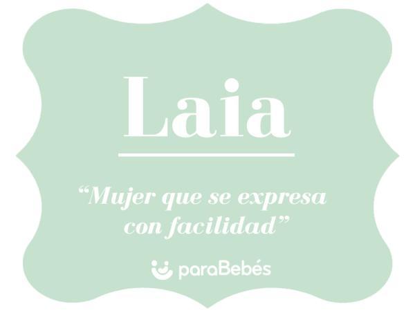 Significado del nombre Laia